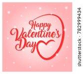 valentines day vector... | Shutterstock .eps vector #782999434