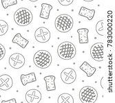 black and white seamless... | Shutterstock .eps vector #783000220