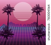 the 80s landscape style | Shutterstock .eps vector #783004564