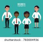 business people cartoon | Shutterstock .eps vector #783004936
