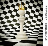 3d chess queen  on a white and... | Shutterstock . vector #78301132