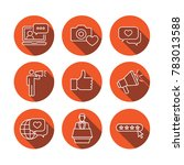 thin line outline icon set w... | Shutterstock .eps vector #783013588
