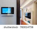 smart screen with smart home... | Shutterstock . vector #783014758