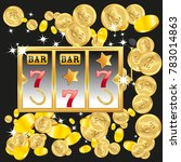 casino. golden slot machine... | Shutterstock .eps vector #783014863