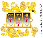 casino. golden slot machine... | Shutterstock .eps vector #783014866