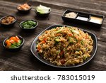 Fried Rice In Plate On Table I...