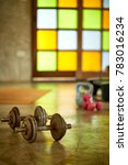 fitness club weight training... | Shutterstock . vector #783016234