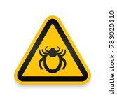 ticks warning mite bug icon.... | Shutterstock .eps vector #783020110
