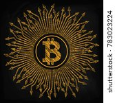 crypto currency  bitcoin. in...   Shutterstock .eps vector #783023224