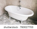 bathtub decoration in bathroom... | Shutterstock . vector #783027703