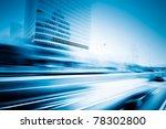 the light trails on the modern... | Shutterstock . vector #78302800
