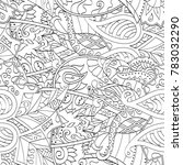 tracery seamless pattern.... | Shutterstock .eps vector #783032290