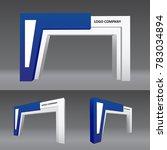 simple gate entrance modern... | Shutterstock .eps vector #783034894