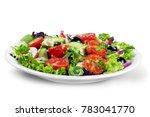 frsh greek salad | Shutterstock . vector #783041770