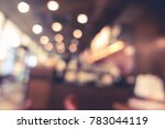 blur or defocus image of coffee ... | Shutterstock . vector #783044119