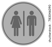 wc persons silver coin icon.... | Shutterstock .eps vector #783046090