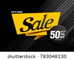 sale banner  end of season ... | Shutterstock .eps vector #783048130