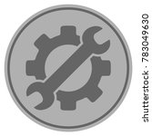 optional gear silver coin icon. ... | Shutterstock .eps vector #783049630