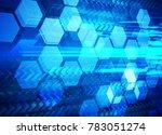 binary circuit board future... | Shutterstock .eps vector #783051274