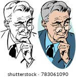 a portrait of an older man with ... | Shutterstock .eps vector #783061090