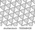 ornament with elements of black ... | Shutterstock . vector #783068428