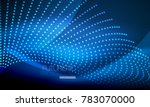 smooth smoke particle wave  big ... | Shutterstock .eps vector #783070000