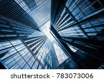 skyscrapers from a low angle... | Shutterstock . vector #783073006