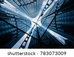 skyscrapers from a low angle... | Shutterstock . vector #783073009