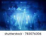 2d rendering stock market... | Shutterstock . vector #783076306