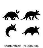 aardvark logo icon design vector | Shutterstock .eps vector #783082786