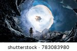 space hole and astronaut. mixed ... | Shutterstock . vector #783083980