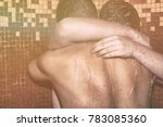 two men in the shower. love and ... | Shutterstock . vector #783085360