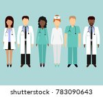 medical characters flat people. ... | Shutterstock . vector #783090643