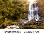 hebbe falls in chikmagalur ... | Shutterstock . vector #783094726