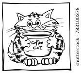 funny infantile outline sketch... | Shutterstock .eps vector #783100378