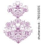 flower outline ornament | Shutterstock .eps vector #78310201