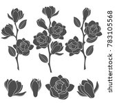 set of black and white... | Shutterstock .eps vector #783105568