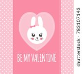 happy valentines day print... | Shutterstock .eps vector #783107143