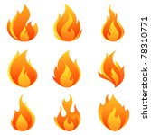 fire flames. collage. | Shutterstock .eps vector #78310771