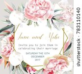 beautiful wedding invitation... | Shutterstock .eps vector #783110140