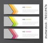 web banner set design. inspired ... | Shutterstock .eps vector #783119476
