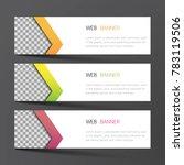 web banner set design. inspired ... | Shutterstock .eps vector #783119506