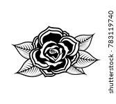 rose illustration in tattoo... | Shutterstock .eps vector #783119740