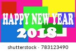 happy new year wish card | Shutterstock . vector #783123490