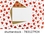 valentines day frame or gift...   Shutterstock . vector #783127924