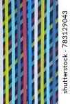 colorful plastic lines | Shutterstock . vector #783129043