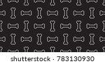 dog bone bulldog seamless... | Shutterstock .eps vector #783130930