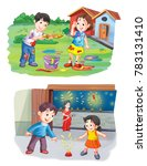 indian festival illustration | Shutterstock . vector #783131410