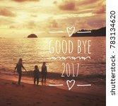 Good Bye 2017 Text Written On...