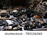 A Lot Of Rifles  Guns  Grenade...